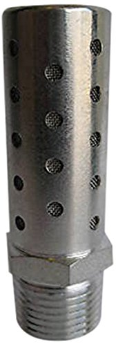 MettleAir SHF-N03 Pneumatic High Flow Silencer, Stainless Steel, 3/8'' NPT (Pack of 10) by MettleAir