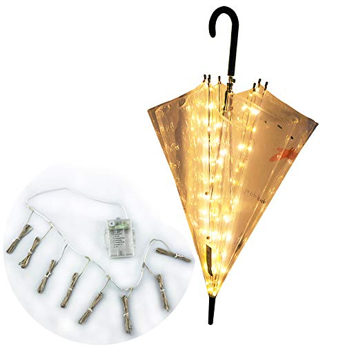 Areskey Patio Umbrella String Lights,8-Ribs 104 LED,Warm White Starry Lights for Bistro Pergola,Deckyard,Tents,Cafe,Garden,Travel,Beach,Party Decor (light) by Areskey