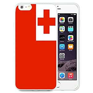 Beautiful Unique Designed Cover Case For iPhone 6 Plus 5.5 Inch With Tonga Flag White Phone Case