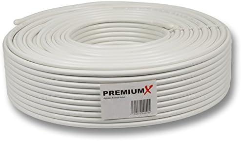 Premiumx 30m Koaxialkabel 135db 4 Fach Sat Antennenkabel Koaxkabel Für Dvb S S2 Dvb C Dvb T Bk Anlagen Sat Kabel 10x F Stecker 0 43 M Baumarkt
