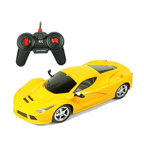 PinShang RC Car,Cool Electric Remote Controlled Racing Sports Car Toy for Kids Boys Ferrari Yellow 1:12
