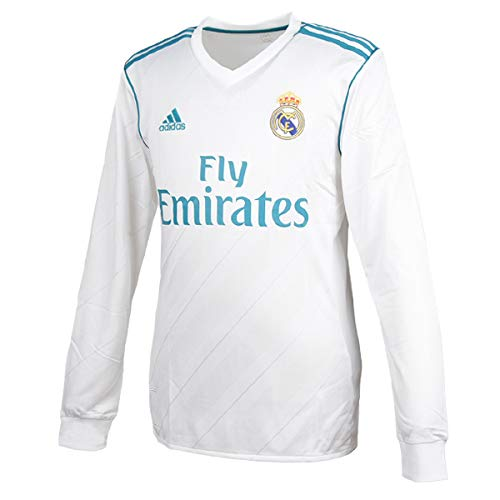Real Madrid Long Sleeve Jersey - adidas Real Madrid CF Home Long Sleeve Jersey [White] (L)