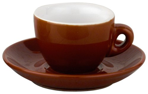Espresso Brown Cup (European Gift and Houseware Italian Style Moka Cafe Espresso Cups, 2-1/2-Ounce, Set of 6)