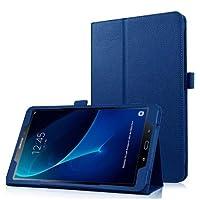 """Capa Agenda Tablet Samsung Galaxy Tab A 10.1"""" SM-P585/P580 + Película de Vidro - Azul Escuro"""