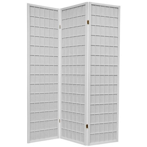 3-panel White Wood Shoji Screen / Room Divider