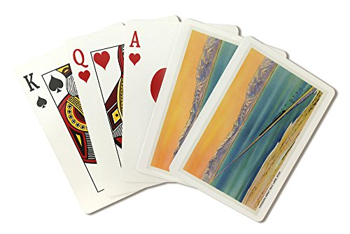 (Utah - Train Crossing the Great Salt Lake (Playing Card Deck - 52 Card Poker Size with Jokers) )