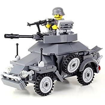Amazon Ww2 Willys Jeep Battle Brick Custom Set Toys Games