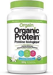Orgain Organic Plant Based Canadian Protein Powder, Vanilla Bean - Vegan, Lactose Free, Gluten Free, Dairy Fre