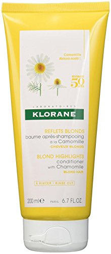 Klorane Conditioner  with Chamomile for Blonde Hair, Enhances highlights, brightens blonde hair, Paraben, Hydrogen Peroxide, Ammonia, Sulfate Free, 6.7 oz.