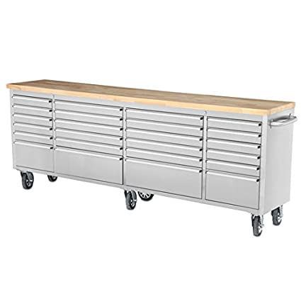 Thor Kitchen HTC9624W 96 Inch 96 quot  24 Drawer Wide Stainless Steel  Anti-Fingerprint Tool 8852ae3d34d4