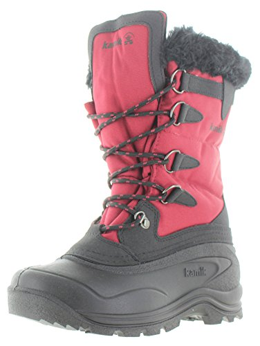 Kamik Women's Shellback Insulated Winter Boot, Dark Red, 8 M US Red Shearling Boots