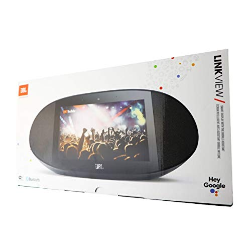 JBL Link View (Black) Voice-Activated Wireless Smart Speaker with HD Touch Screen (Best Voice Assistant Speaker)