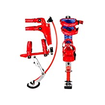 Iconiciris Kids/child Youth Kangaroo Shoes Jumping Stilts Fitness Exercise (88-132lbs/40-60kg) (Red)