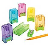 Best Crayon Sharpeners - Pencil & Crayon Sharpeners (24 Pack - Multi-Colored) Review