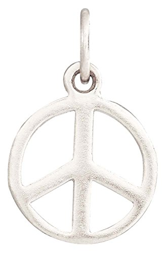 Helen Ficalora Peace Sign Mini Charm White Gold (Gold Peace Sign Charm)