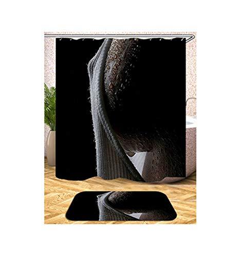 ANAZOZ Cortina de Baño Mujer Sexy Cortinas Baño Poliéster Cortinas Ducha Impermeables Estilo 10 Cortina de Ducha 165x180cm