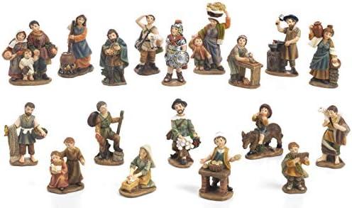 Articoli religiosi by Paben Set 18 Personaggi Presepe, 7 cm. in Resina