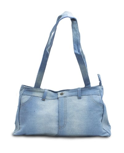 Genuine Denim Shoulder Bag Purse (Denim Purse Blue Jean)