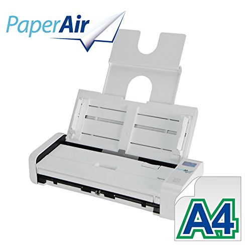 Avision PaperAir 215L Portable Business Card and Document Scanner | 20 ppm | PaperAir Manager | Presto BizCard 6 | ADF 20 Page Feeder