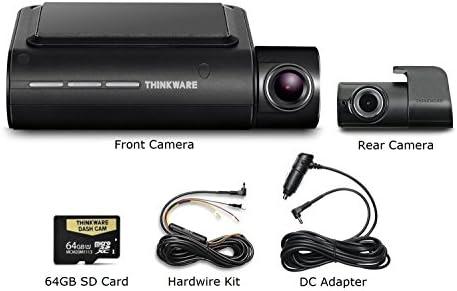 Thinkware F800 Pro Dash Cam 64GB Kit w Rear Cam Hardwire WiFi GPS Night Vision