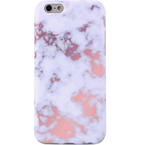 VIVIBIN iPhone 6 Case,iPhone 6s Case,Cute Champagne White Marble Women Girls Clear Bumper Best Protective Soft Silicone Rubber Matte TPU Cover Slim Fit Best Phone Case iPhone 6/iPhone 6s