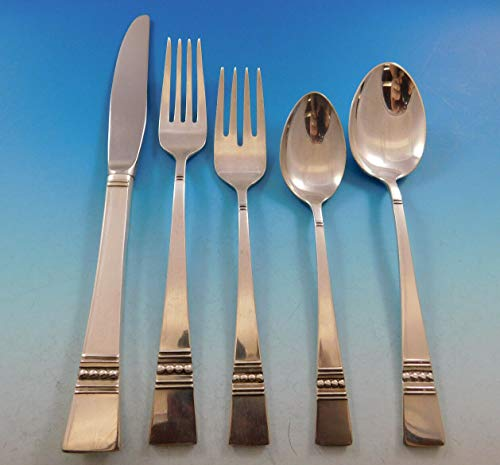 - Diadem by Reed and Barton Sterling Silver Flatware Set for 8 Service 45 pieces