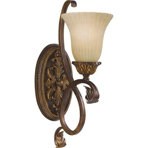 Feiss Sonoma Valley aged Tortoise Shell 1-Light Wall Sconce - Wall Tortoise Aged Shell