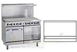 Imperial Commercial Restaurant Range 48 Griddle With Standard Oven Cabinet Nat Gas Ir G48 Xb