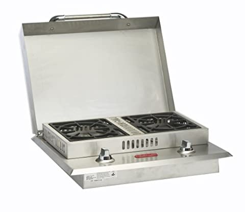Bull Outdoor Products 60099 Stainless Steel Double Side Burner, Natural Gas (Single Burner Natural Gas)