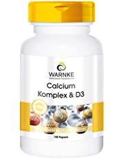 Calciumcomplex met vitamine D - Calcium, magnesium & vitamine D3 - hoge dosering - 100 capsules