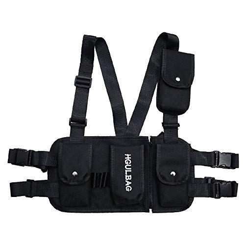 VOCUS Fashion Chest Rig Bag Sport Daypack Tactical Chest Rig for Men Women