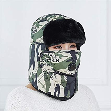 Amazon.com  MAGA 1 Winter Hat Men Women Bomber Hat with Scarf Anti-Haze  Mask Russian Ushanka Thermal Trapper Hat Trooper Earflap Snow Ski  Balaclava  Kitchen ... 3c623498e0b