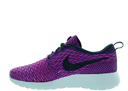Mujeres Nike Roshe One Flyknit Zapato Oscuro Atómico Teal / Vivid Purple