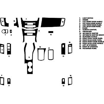 Black Rdash Dash Kit Decal Trim for Ford Ranger 2003-2007 Carbon Fiber 4D