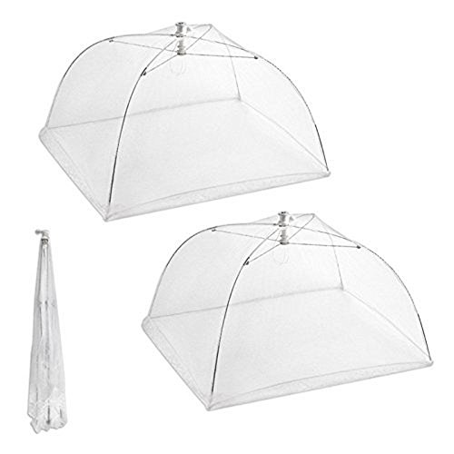 Ma_Acc Reusable and Collapsible Large Pop-Up 16'' L x 16'' W Mesh Screen Food Cover Tents by Ma_Acc