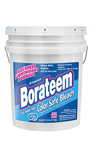 Borateem Color Safe - Dial 871882 Borateem Non-Chlorine Color Safe Bleach,17.5 lb Pail, 424 Loads