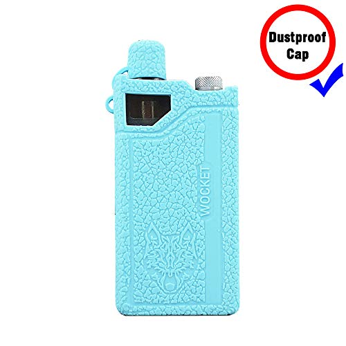 DSC-Mart Silicone Case for Sigelei Snowwolf Wocket Mod Kit 1100mAh Protective Rubber Sleeve Cover Shield (TFblue)