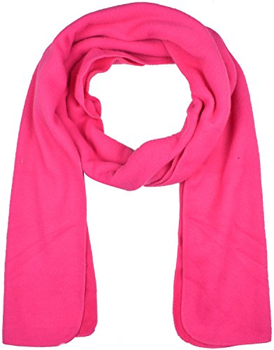 Fashion Winter Fleece Scarf - Hot Pink Scarf Winter Fashion Scarves Polar Fleece Scarves Soft Warm Scarf