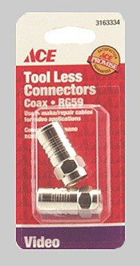 - Cd/2: Ace Tool-Less Rg59/U Coaxial Connector (3163334)