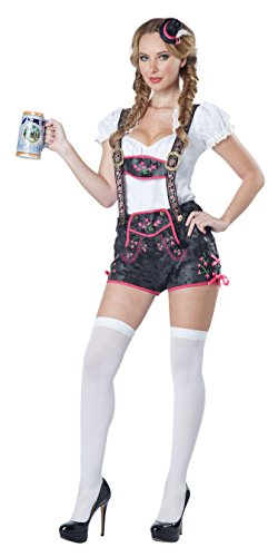 California Costumes Women's Flirty Lederhosen Costume, Black, Small]()