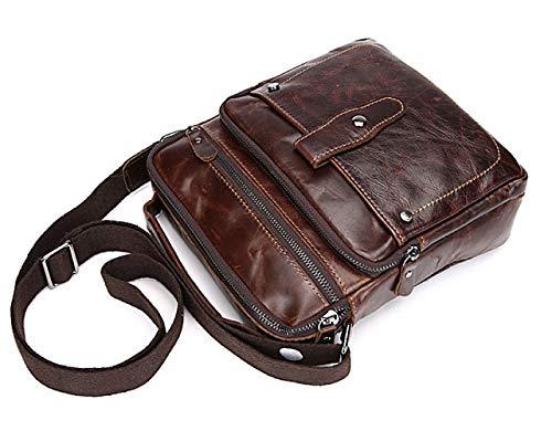 De Messenger Brown Cuadrado De Retro Hombro Cabeza De Cuero Casual De Premium Hombres La Bolso Los Bolso 7qda7