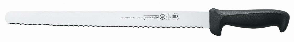 Mundial 5627-14E 14-Inch Serrated Edge Slicing Knife, Black