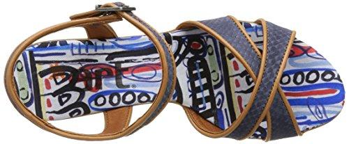 ART IPANEMA - Sandalias de vestir de cuero para mujer azul - Blau (CREPUSCULO-CARAMEL)