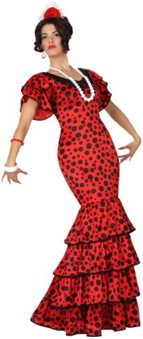 Atosa-15588 Disfraz Flamenca, color rojo, M-L (15588): Amazon.es ...