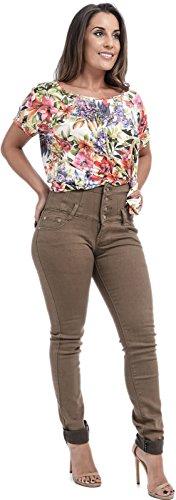 Fashion Xpression negro mujer Vaqueros para 7dwdCf