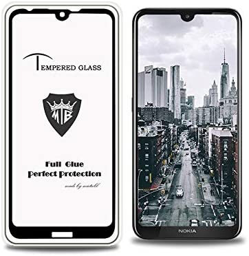 JIANGNIUS Screen Protectors 25 PCS Full Screen Full Glue Anti-Fingerprint Tempered Glass Film for Nokia 3.2 Black