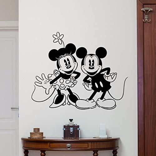 yaonuli Adhesivos de Pared para habitacion de ninos Adhesivos de Pared de raton de Vinilo Adhesivos de Pared Decorativos para ninos Decorativos de vinilo42X34cm