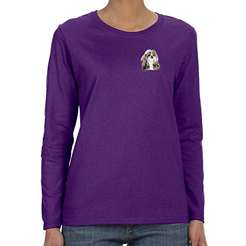 (Cherrybrook Dog Breed Embroidered Felt Tablet Sleeves - Large - Purple - Shih Tzu)