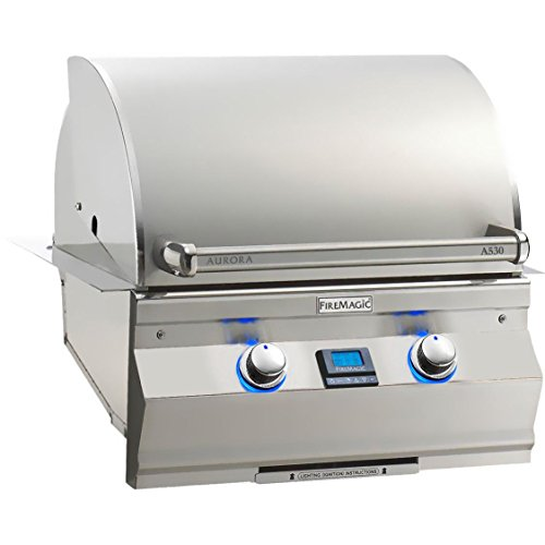 - Fire Magic Aurora A530i 24-inch Built-in Propane Gas Grill With One Infrared Burner - A530i-5l1p