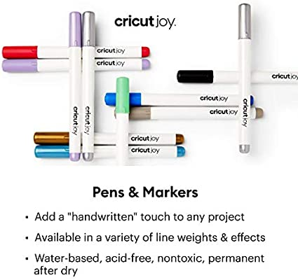 3 Blue Cricut Joy Gel Point Pens 1.0 Gray Black
